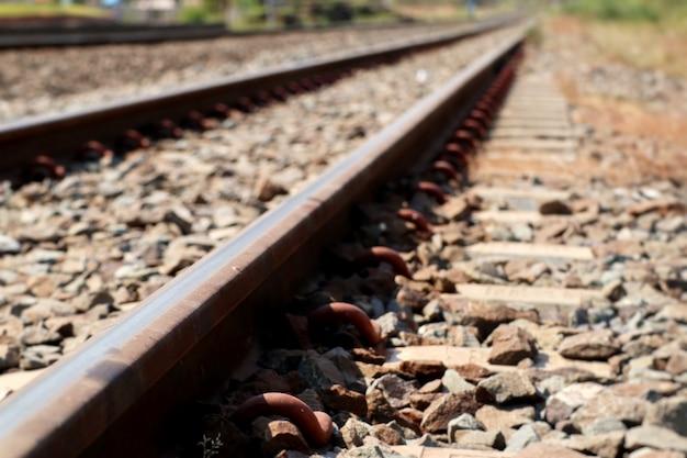 Estación de tren y ferrocarril Foto Premium