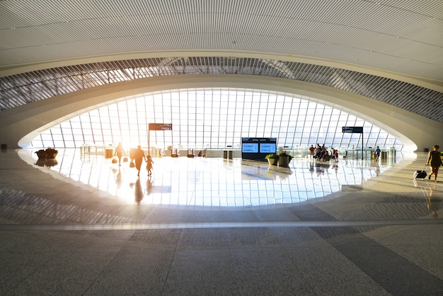 Estación de tren hall, esta es la estación de tren del oeste de chongqing, china. Foto Premium