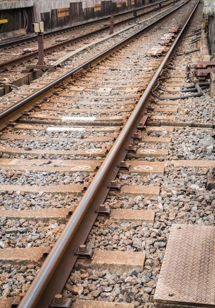 Estación de tren de japón. (imagen filtrada procesada efecto de la vendimia Foto gratis