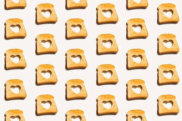 Estampado de panadería con pan tostado Foto gratis