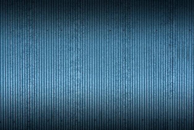 Estaño textura y patrón de fondo. cercas industriales y de construcción o láminas de metal de estaño azul Foto Premium