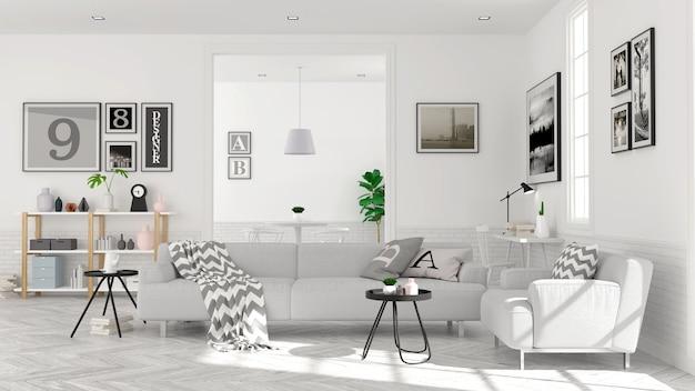 Estilo Escandinavo Moderno Concepto Interior De Sala De