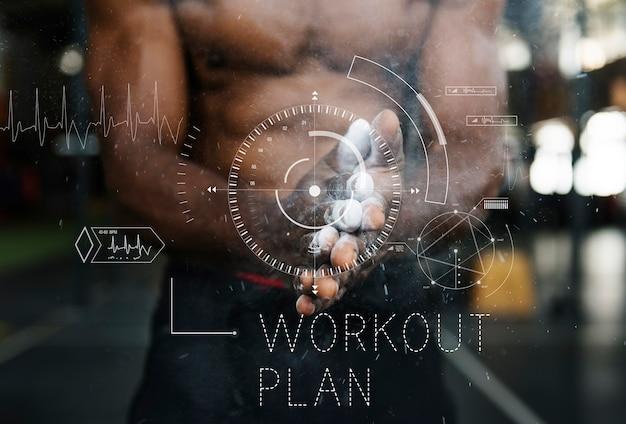 Estilo de vida de wellness health lifestyle palabra de entrenamiento Foto gratis