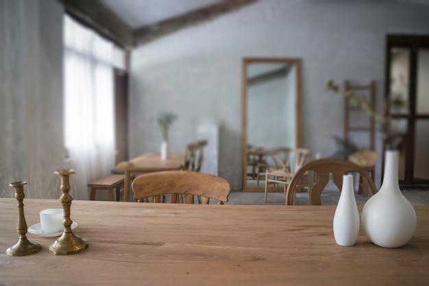 Estilo vintage de muebles de comedor de madera | Foto Premium