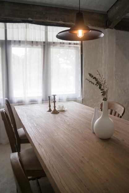 Estilo vintage de muebles de comedor de madera | Descargar Fotos premium