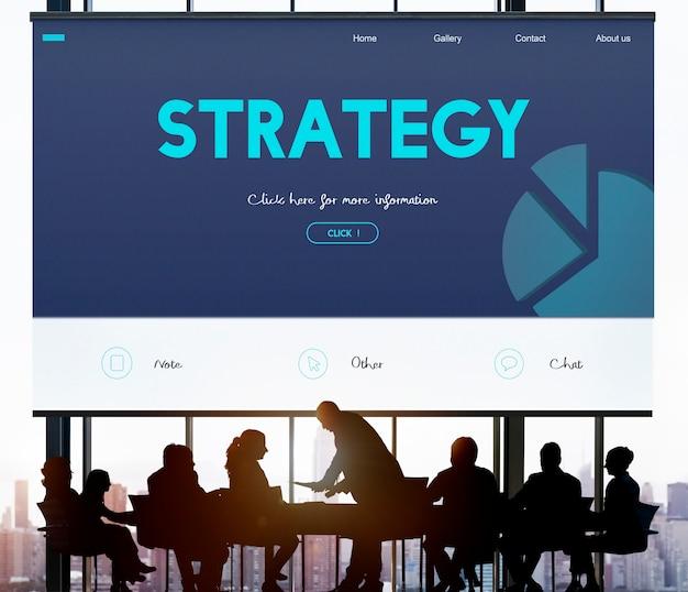 Estrategia de negocios Foto Premium