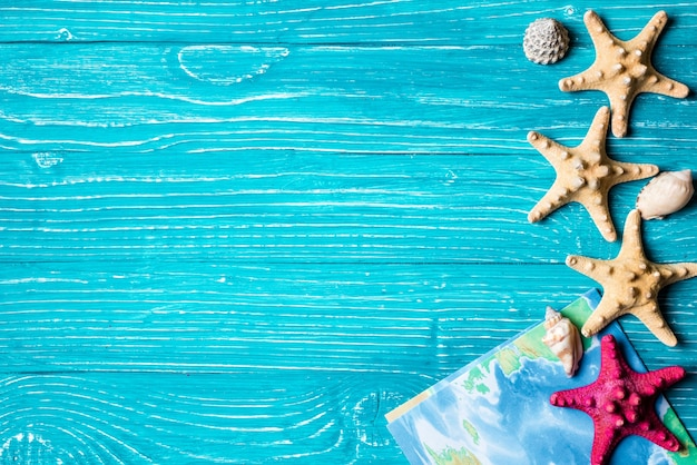Estrella Mar Siesta Situado Fondo Madera Azul 575 Bordes Para Word Gratis Sirena