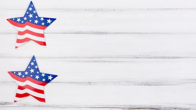 Estrellas decorativas para el día de la independencia. Foto gratis