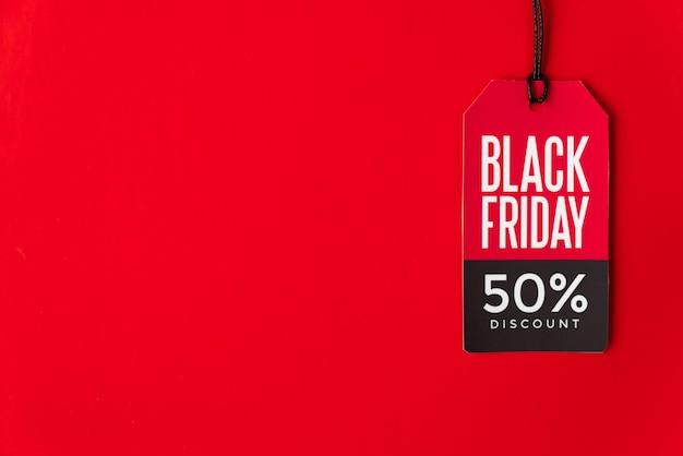 Etiqueta de viernes negro con espacio de copia Foto gratis