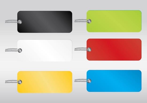 etiquetas de colores vector