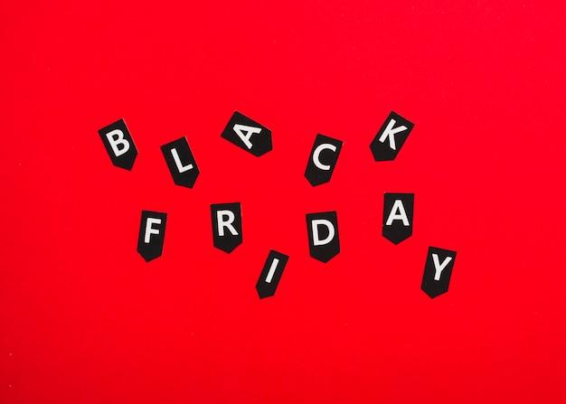 Etiquetas con inscripción viernes negro Foto gratis