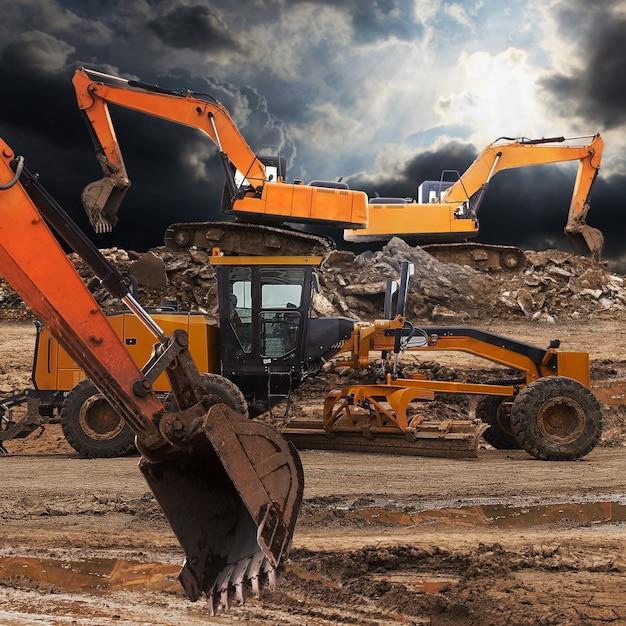 Excavadora y clasificadora Foto Premium
