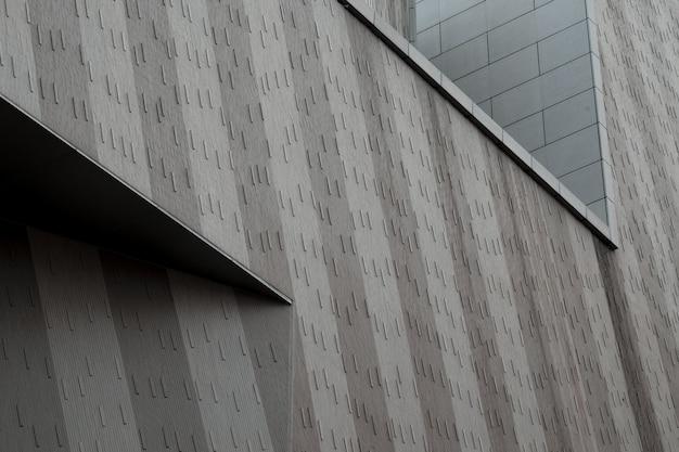 Fachada de un edificio urbano moderno. Foto gratis