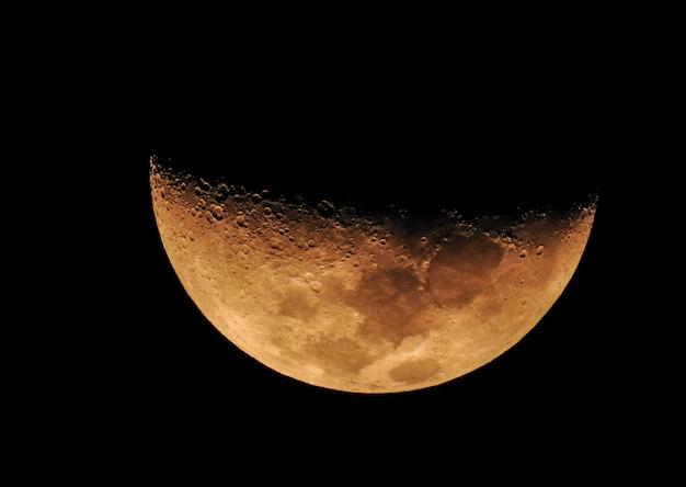 Fase de la luna amarilla Foto Premium
