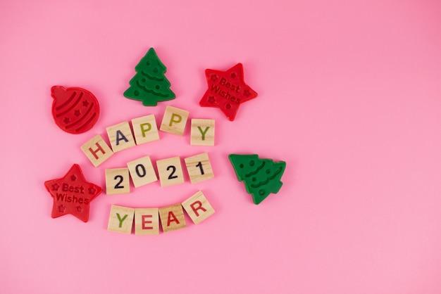 Feliz año nuevo y feliz navidad. Foto Premium