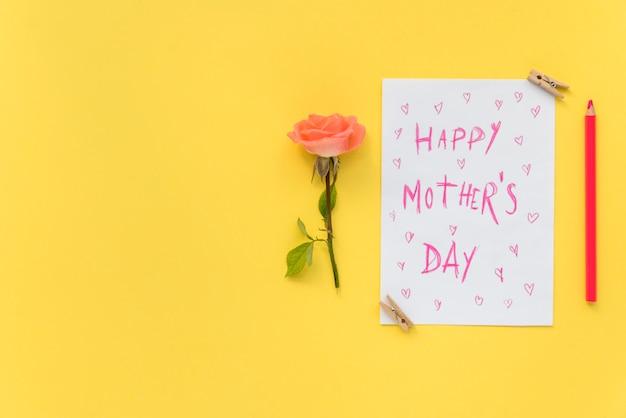 Feliz día de la madre postal Foto gratis