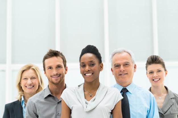 Feliz grupo empresarial diverso Foto Premium
