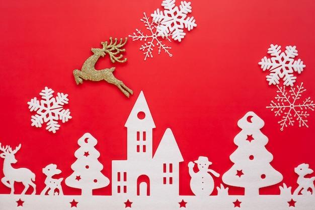 Imagenes De Navidad 2019.Feliz Navidad Y Feliz Ano Nuevo 2019 Fondo Rojo Descargar