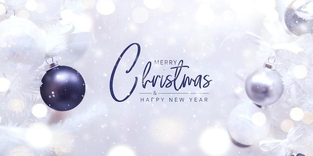 Feliz navidad y feliz año nuevo concepto Foto Premium