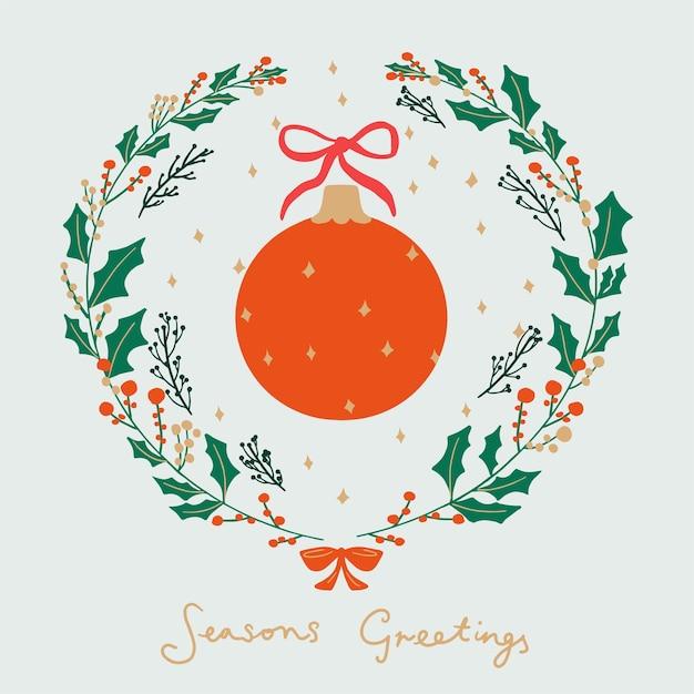 Feliz navidad, tarjeta de felicitación Foto Premium