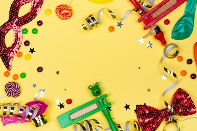 Fiesta festiva, carnaval o fondo de vacaciones de purim Foto Premium