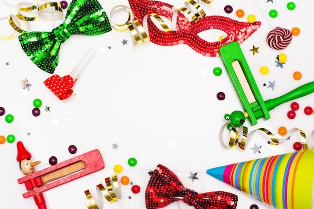Fiesta festiva, carnaval o fondo de vacaciones purim. Foto Premium