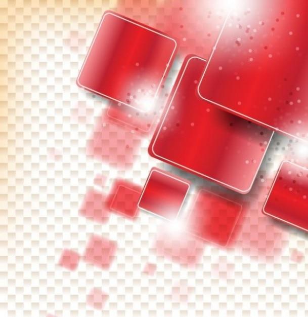 Figuras geométricas de color rojo con sombras