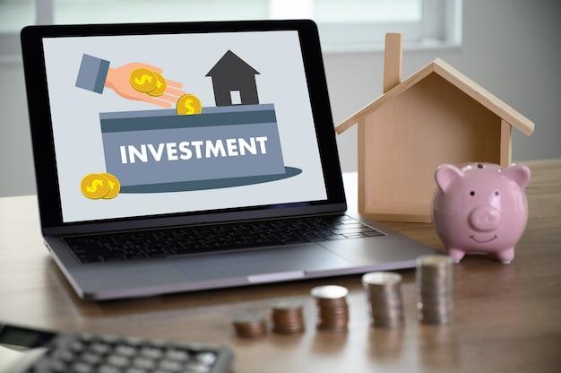 Financiación de fondos de inversión hipotecas de vivienda y vivienda e inversión inmobiliaria Foto Premium