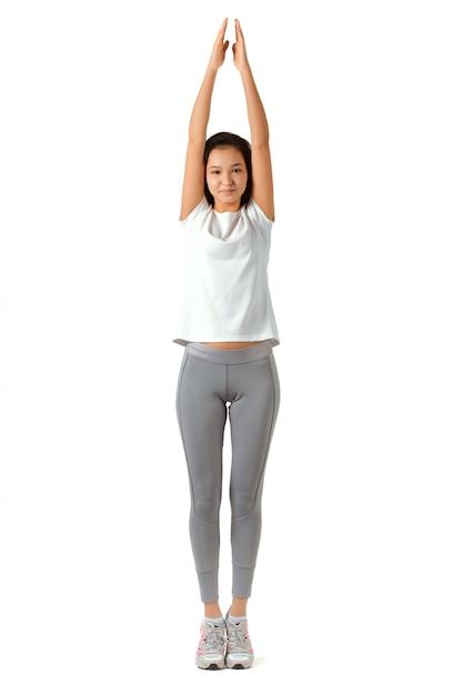 Fitness mujer integral Foto Premium