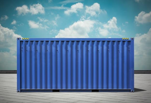 Flete del puerto, imágenes entonadas azules. Foto gratis