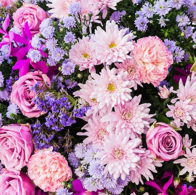 Flores Rosas Y Moradas Descargar Fotos Gratis