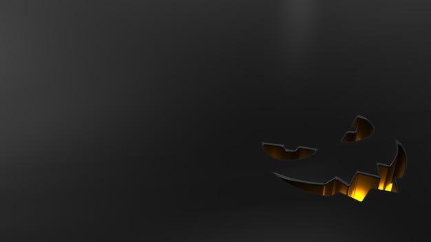 Fondo 3d de halloween con calabazas Foto gratis