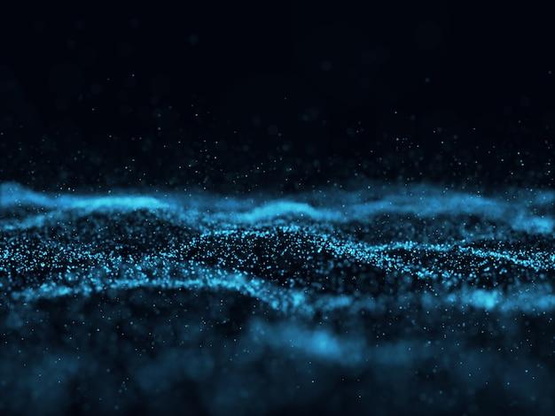 Fondo abstracto en 3d con partículas futuristas Foto gratis