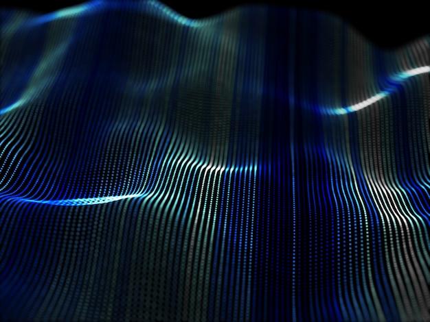 Fondo abstracto en 3d con partículas que fluyen Foto gratis