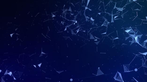 Fondo abstracto de alta tecnología de polígono bajo Foto Premium