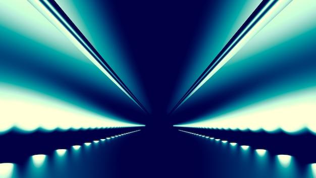 Fondo abstracto con brillo y camino. Foto Premium