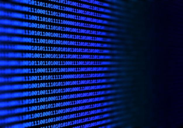 Fondo abstracto de código binario Foto gratis