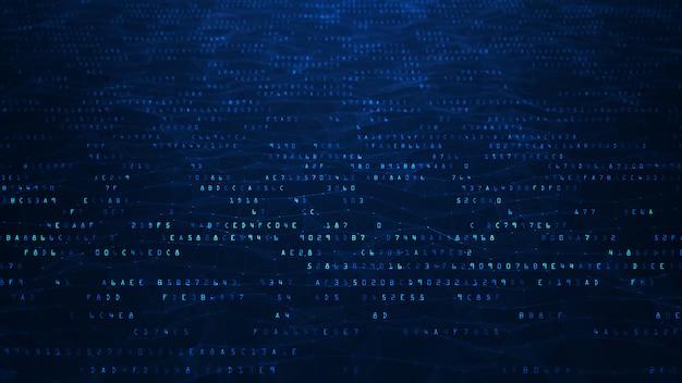 Fondo abstracto del código binario. Foto Premium