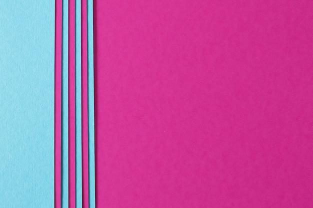 Fondo abstracto de composición de color rosa y azul con cartón de textura Foto gratis