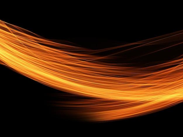 Fondo abstracto de líneas fluidas ardientes Foto gratis