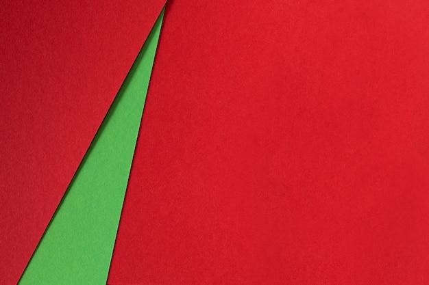 Fondo abstracto de papel de textura verde y rojo Foto gratis