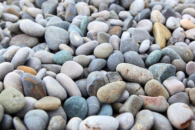 Fondo abstracto con piedras peble redondas secas Foto Premium