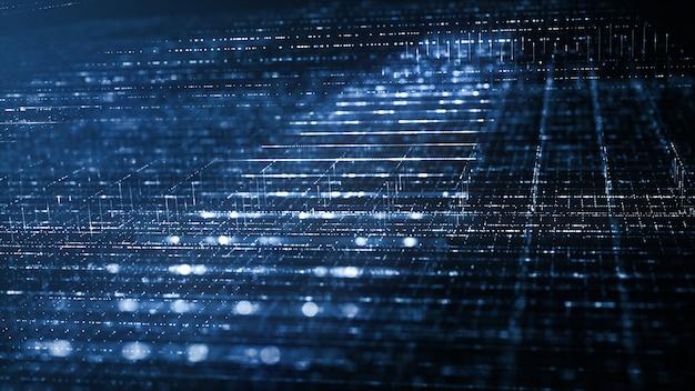 Fondo abstracto de tecnología digital Foto Premium