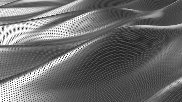 Fondo abstracto de tela plateada Foto gratis