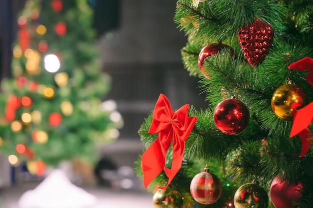 Fondo del árbol de navidad Foto Premium