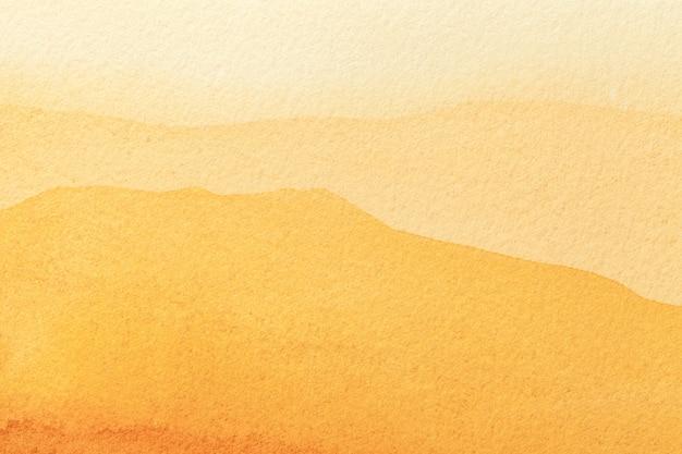 Fondo de arte abstracto amarillo claro y dorado colores acuarela sobre lienzo Foto Premium