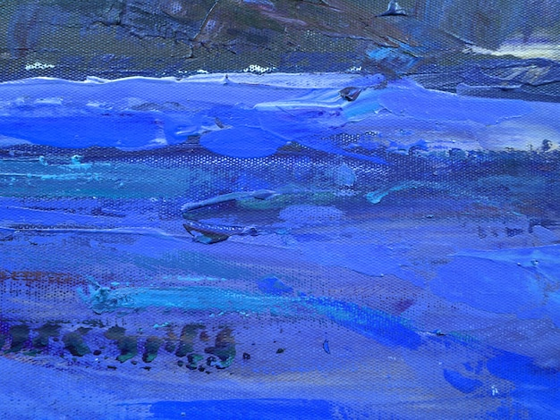 Fondo de arte abstracto de trazo de color azul oscuro. Foto Premium