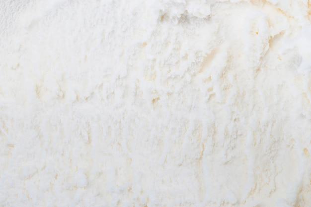 Fondo blanco helado de vainilla Foto gratis