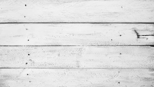 Fondo blanco y negro de viejas tablas de madera Foto Premium