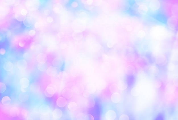 Fondo borroso colorido abstracto con bokeh Foto Premium